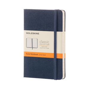 Moleskine Hard Cover Notebook - Ruled, Pocket, Sapphire Blue
