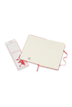 Moleskine Hard Cover Notebook - Ruled, Pocket, Daisy Pink