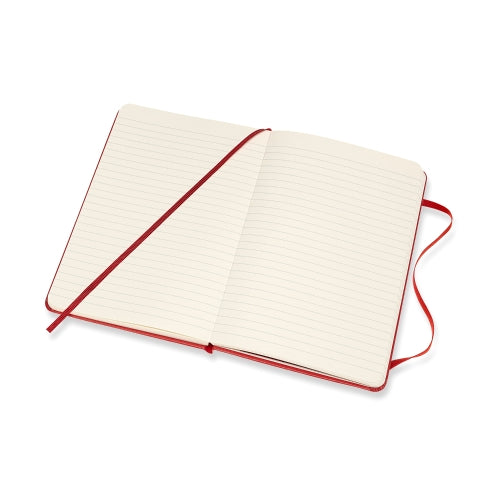 Moleskine Hard Cover Notebook - Ruled, Large, Scarlet Red