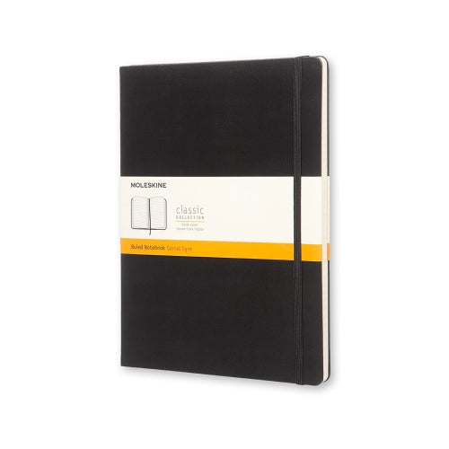 Moleskine Hard Cover Notebook - Ruled, Extra Large, Black