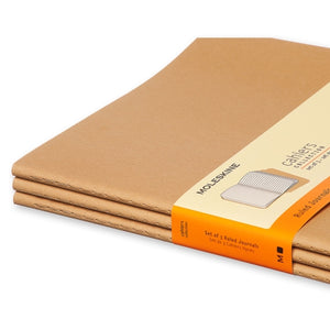 Moleskine Cahier Notebook - Ruled, Extra Large, Kraft
