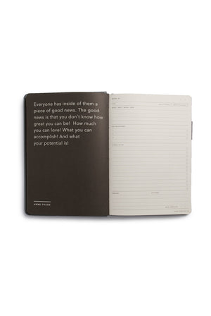 MiGoals Goals Journal - A5, Hard Cover, Grey