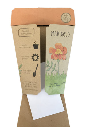 Gift of Seeds Card - Marigolds