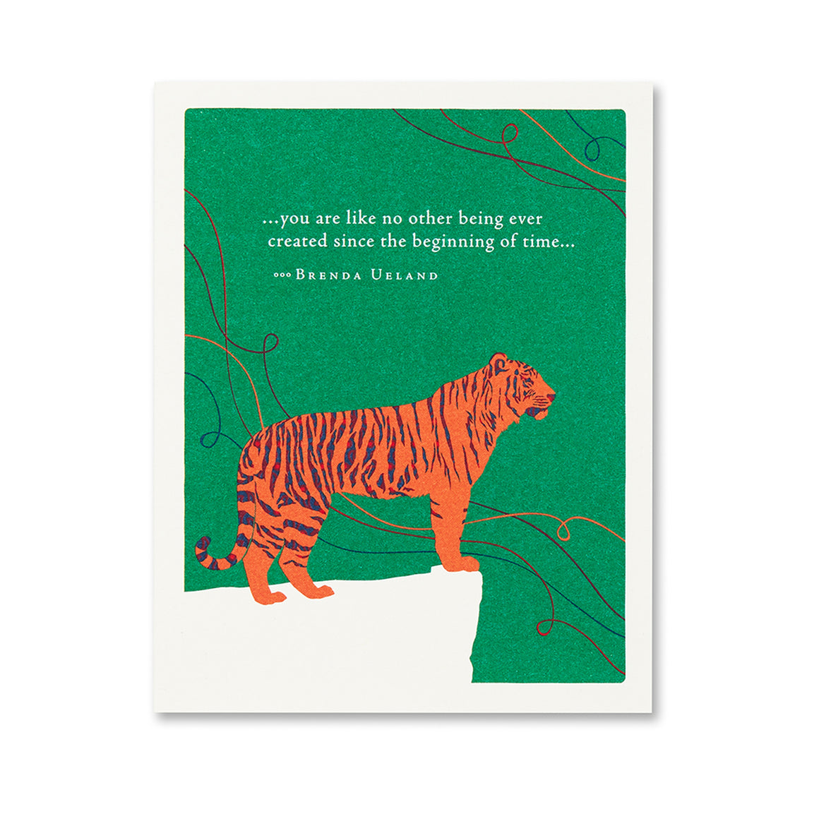 Positively Green Greeting Card - You are like no other being...