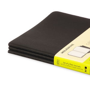 Moleskine Cahier Notebook - Plain, Large, Black