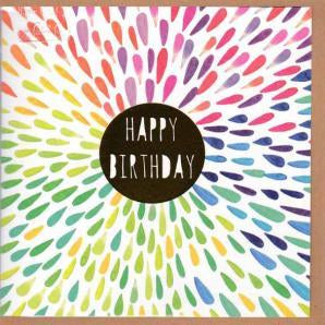 Paper Street Greeting Card - Happy Birthday Gold Spot