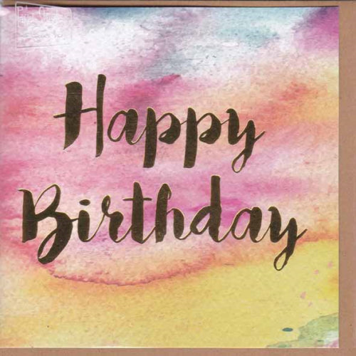 Paper Street Greeting Card - Watercolour Happy Birthday