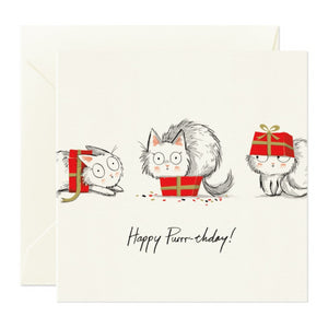 Card Nest Greeting Card - Happy Purrr-thday!