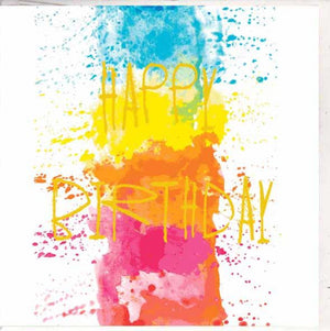 Paper Street Greeting Card - Colour Splat Birthday