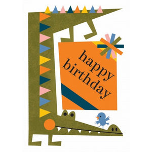 Little Red Owl Greeting Card - Crazy Crocodile Birthday