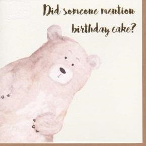 Paper Street Greeting Card - Bear & Cake