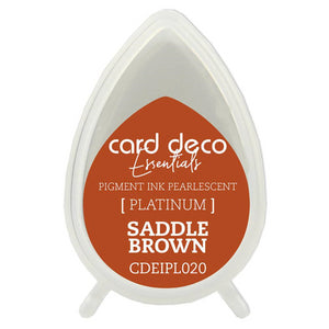 Card Deco Essentials Pearlescent Pigment Ink - Saddle Brown