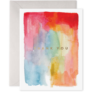 E Frances Greeting Card - Colourful Thank You