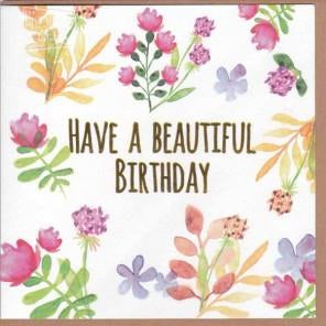 Paper Street Greeting Card - Have a Beautiful Birthday