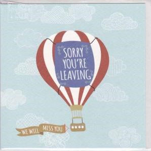 Paper Street Greeting Card - Sorry You're Leaving Hot Air Balloon