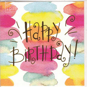 Paper Street Greeting Card - Happy Birthday, Colourful Circles