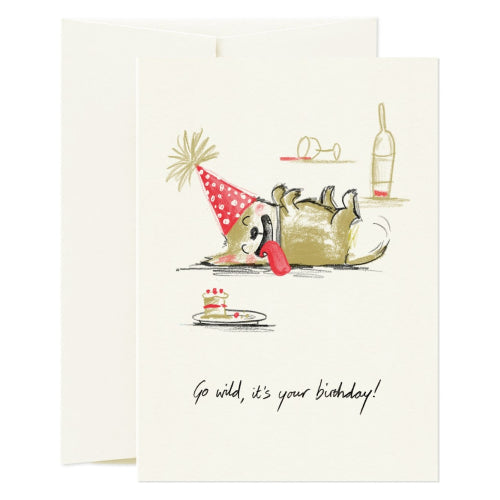 Card Nest Greeting Card - Go Wild, It's Your Birthday