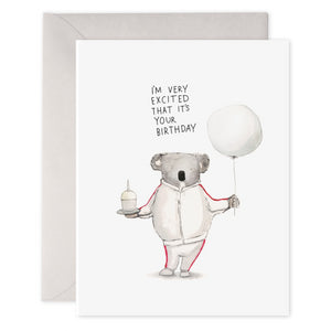 E Frances Greeting Card - Koala Excitement