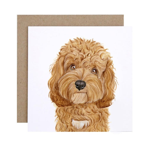 For Me By Dee Greeting Card - Carrie the Cavoodle