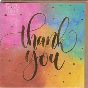 Paper Street Greeting Card - Thank You Colourful