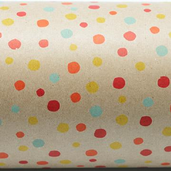 Kraft Gift Wrapping Paper - Confetti Red/Yellow (Click & Collect Only - Can not be shipped)