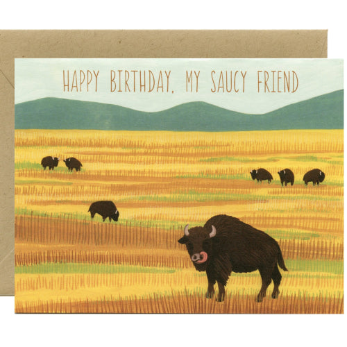 Yeppie Paper Greeting Card - Saucy Buffalo