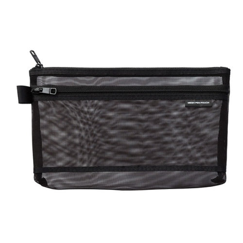 Midori Mesh Pen Case - Medium, Black
