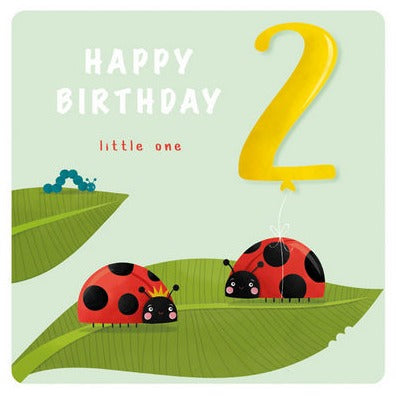 The Art File Greeting Card - Age Collection, 2nd Lady birds