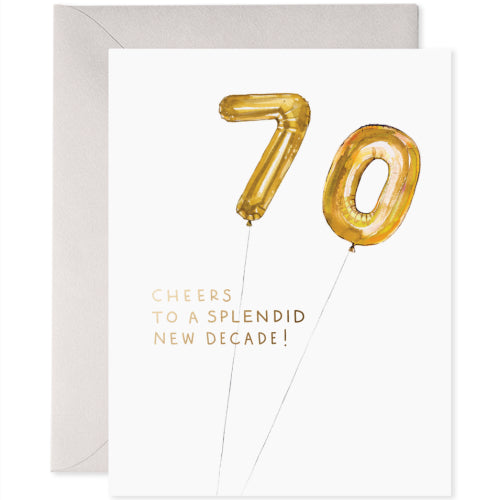 E Frances Greeting Card - Helium 70th