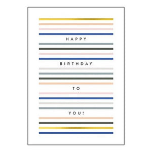 The Art File Greeting Card - Balance Collection, To You Lines