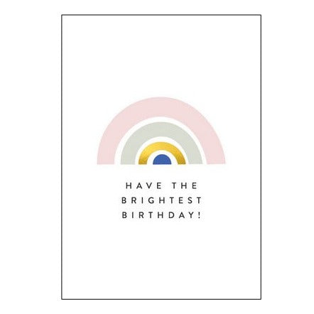 The Art File Greeting Card - Balance Collection, Brightest Birthday