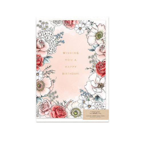 Typoflora Greeting Card - Garden Birthday