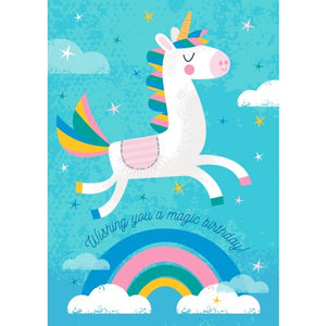 Little Red Owl Greeting Card - Unicorn Birthday