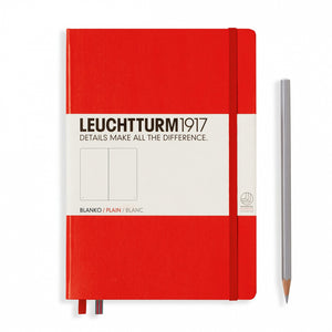 Leuchtturm1917 Notebook - Plain, A5, Red