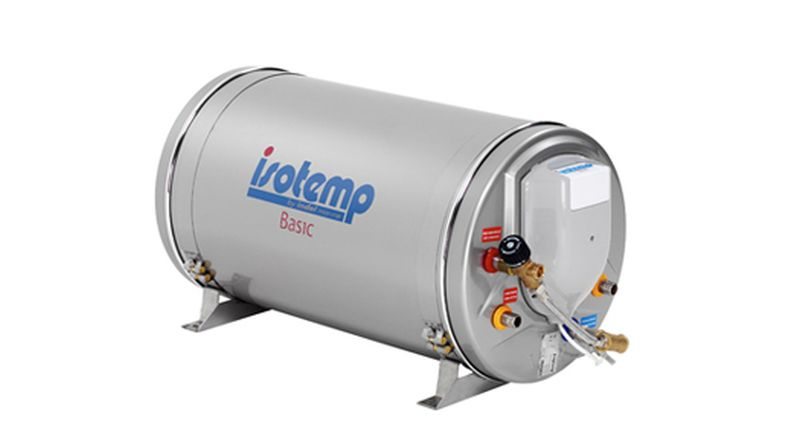Isotemp Waterheater BASIC 40 Stainless Steel - 11 gallon, 750W/230V with safety mixing valve, European Plug  - Double Heat Exchanger