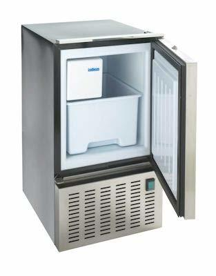 "Isotherm Full Size Ice Maker - White Door, Crescent ""White"" Ice, Proud Mount 3-side flange"