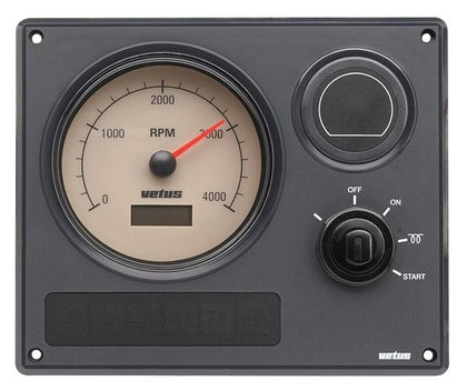 Vetus Engine Panel Type MP21, 12 Volt, With Beige Instruments