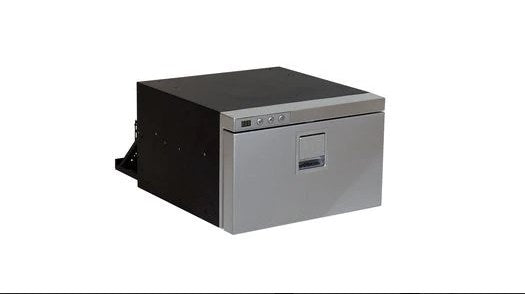 Isotherm Drawer 16 INOX Stainless Steel Small DRAWER Refrigerator or Freezer, DC Only, Silver Painted Stainless Steel Door, Digital Display, Optional 3 or 4 Side SS Flange