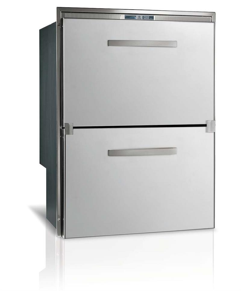 Vitrifrigo Stainless Steel Double Drawer Refrigerator DW210IXP4-ES-1 Surface Flange