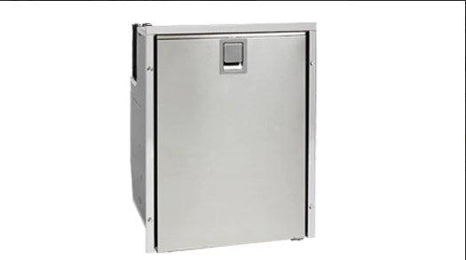 Isotherm Drawer 130 Stainless Steel Refrigerator with Freezer Compartment - AC/DC, 4 - Sided Stainless Steel Flange