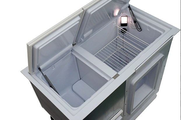 Isotherm BI-172 Build-In Top/Side Opening Refrigerator/Freezer, Air Cooled,Remote Mount Compressor, DC Only, 6 cu. ft.
