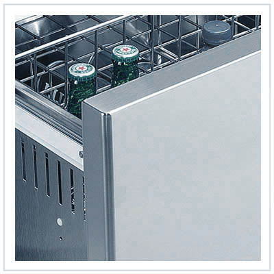 Vitrifrigo Stainless Steel Double Drawer Refrigerator DW210IXP4-EF-2 Flush Flange