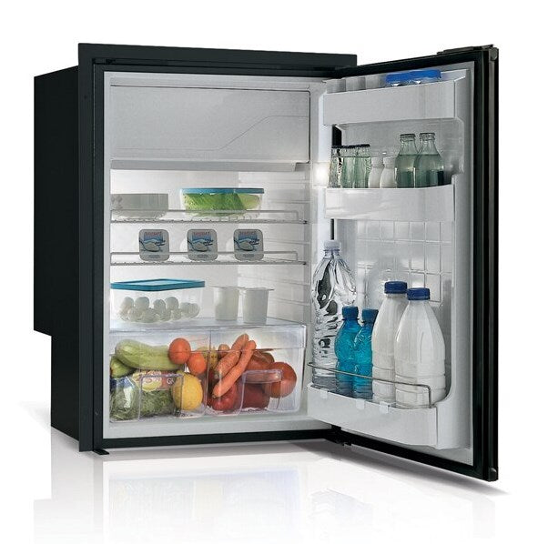 Vitrifrigo Front-Loading, Black Refrigerator C115IBP4-F-1 Adjustable Flange (internal cooling unit)