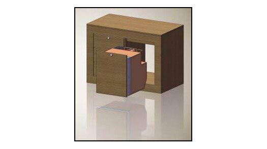 Isotherm Drawer 49 - Refrigerator and Freezer - AC/DC with Special Brackets for 3/4 inch wood panel front