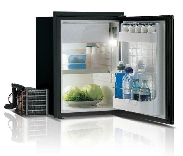 Vitrifrigo Front-Loading, Black Refrigerator w/freezer compartment C42RBD4-F-1 Adjustable Flange (External Cooling Unit)