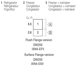 Vitrifrigo Stainless Steel Drawer Refrigerators and Freezers DW250IXN4-EFV-2 Flush Flange