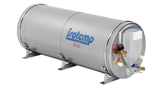 Isotemp Waterheater BASIC 75 Stainless Steel - 20 gallon, 750W/230V with safety mixing valve, European Plug  - Double Heat Exchanger