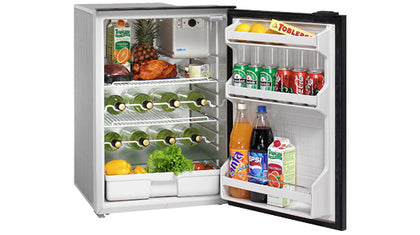 Isotherm Cruise 130 Drink Stainless Steel - 4.6 cu.ft., AC/DC, 4-Side Stainless Steel Flange, No Freezer Compartment
