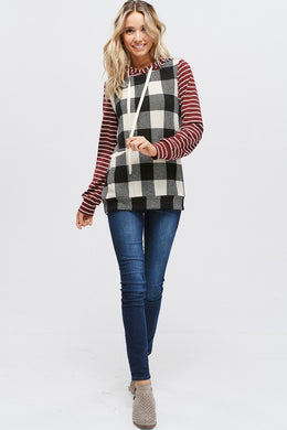 Plaid & Stripes Hoodie
