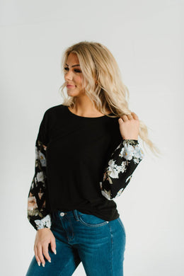Beautiful Girl Contrast Top
